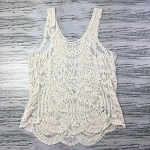 Qed London Top Tank Sequence Sleeveless White